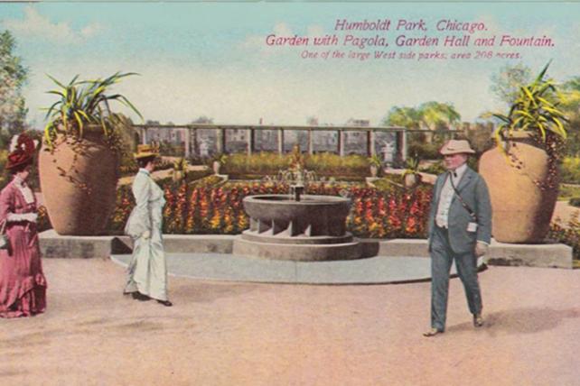 Humboldt Jensen Formal Garden postcard 650x427