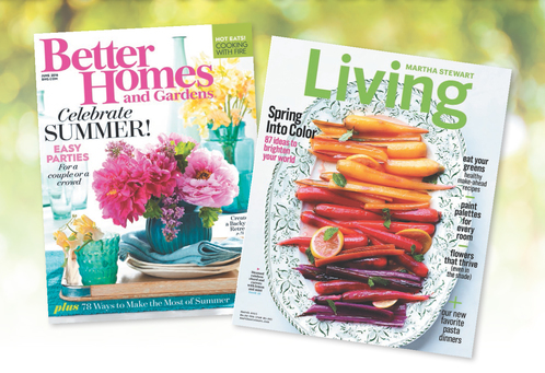 Better homes & gardens and martha stewart